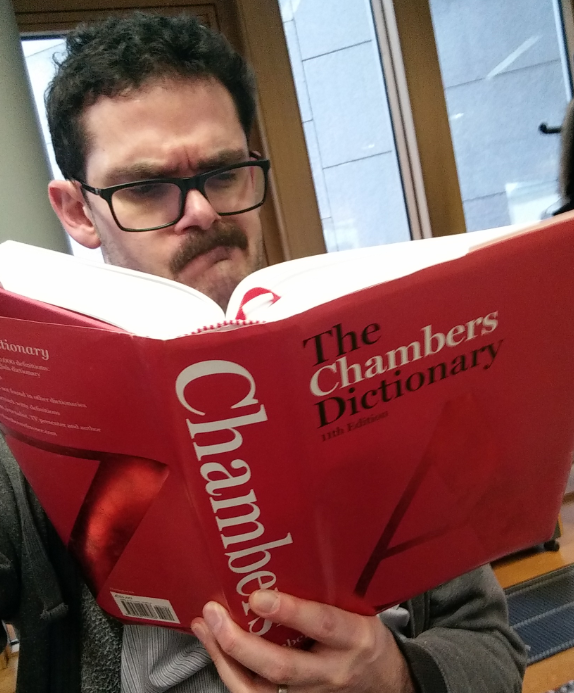 Reporter puzzling over Chambers Dictionary